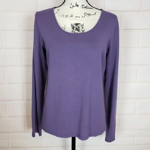Eileen Fisher Scoop Neck Purple Top Size M